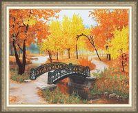 """Вышивка бисером """"Осенний парк"""" (282х350 мм)"""