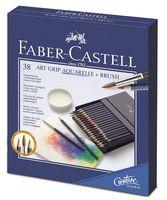 Акварельные карандаши ART GRIP AQUARELLE в студийной коробке (38 цветов + кисточка)