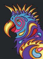 "Алмазная вышивка-мозаика ""Попугай"" (530х720 мм)"