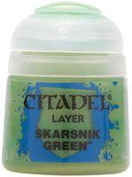 """Краска акриловая """"Citadel Layer"""" (skarsnik green; 12 мл)"""