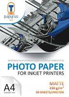 Фотобумага матовая A4 (50 листов, 230 г/м2)