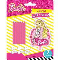 """Набор свечей для торта """"Барби"""" (1 фигурная+ 6 шт.)"""