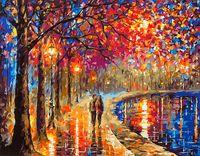 """Картина по номерам """"Прогулка под фонарями"""" (400х500 мм; арт. PC4050136)"""