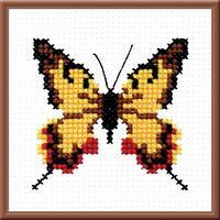 "Вышивка крестом ""Бабочка"" (90x90 мм)"