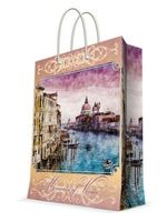 """Пакет бумажный подарочный """"Рассвет в Венеции"""" (26х32,4х12,7 см; арт. 44195)"""