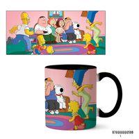 """Кружка """"Симпсоны и Гриффины"""" (арт. 599, черная)"""