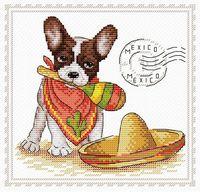 """Вышивка крестом """"Мой верный друг. Мексика"""" (180х180 мм)"""