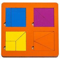 """Рамка-вкладыш """"Сложи квадрат"""" (4 квадрата; голубая)"""