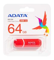USB Flash Drive 64Gb A-Data UV150 USB 3.0 (Red)
