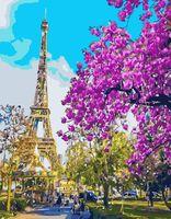"""Картина по номерам """"Цветущий Париж"""" (400х500 мм)"""