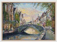 """Вышивка крестом """"Бельгия. Закат в Брюгге"""" (470x320 мм)"""