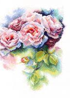 """Вышивка крестом """"Розовая нега"""""""