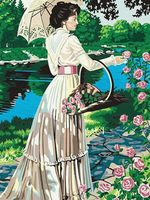 """Картина по номерам """"В сад за цветами"""" (400x500 мм; арт. MG082)"""