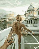"""Картина по номерам """"Следуй за мной. Озеро Удайпур"""" (400х500 мм)"""