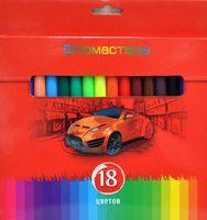 """Фломастеры """"Красная сила"""" в картонной коробке (18 цветов)"""