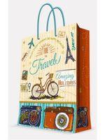 """Пакет бумажный подарочный """"Travel"""" (26х32,4х12,7 см; арт. 44208)"""