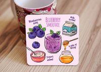 """Подставка под кружку """"Blueberry smoothie"""" (art. 51)"""