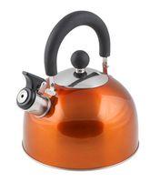 Чайник металлический со свистком (2,15 л; оранжевый металлик)
