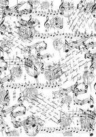"""Бумага для декупажа рисовая """"Музыка цветов"""" (210х300 мм)"""