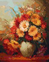 """Картина по номерам """"Хризантемы"""" (400х500 мм)"""