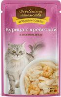 """Пресервы для кошек """"Домашние обеды"""" (70 г; курица с креветкой)"""