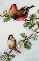 """Вышивка крестом """"Птички"""" (200х305 мм)"""