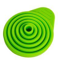 Воронка силиконовая складная (110x70 мм; зеленая)