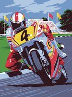 """Картина по номерам """"Мотоциклист"""" (300х400 мм)"""