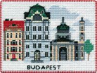"Вышивка крестом ""Будапешт"" (100х70 мм; на магните)"