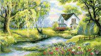 """Вышивка крестом """"Райский уголок"""" (арт. 1357)"""