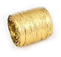 Рафия декоративная (2 м; металлизированное золото)