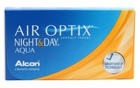 "Контактные линзы ""Air Optix Night and Day Aqua"" (1 линза; -4,0 дптр)"