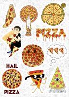 """Набор наклеек №637 """"Pizza"""""""