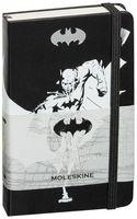 """Записная книжка Молескин """"Бэтмен"""" нелинованная (карманная; твердая черная обложка)"""