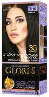 """Крем-краска для волос """"Gloris"""" (тон: 1.2, черный)"""