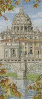"""Вышивка крестом """"Базилика Святого Петра в Ватикане"""""""