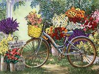 """Вышивка лентами """"Цветы для любимой"""" (270х360 мм)"""