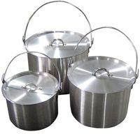 Набор котлов алюминиевых с крышкой (4,8 л ; 9 л ; 13 л)