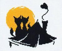 """Вышивка крестом """"Влюбленные коты"""" (150x130 мм; арт. 405В)"""