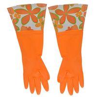 Перчатки кухонные с манжетой оранжевые (арт. 29492)