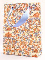 """Пакет бумажный подарочный """"Lilies"""" (23,5х17х7 см; красно-синие элементы)"""