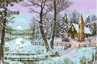 """Канва с нанесенным рисунком """"Зима"""" (арт. А-1212)"""