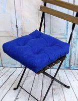 """Подушка на стул """"Velours"""" (40х40 см; синяя)"""