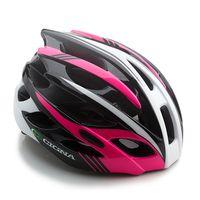 """Шлем велосипедный """"WT-016"""" (черный/розовый/белый)"""