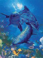 """Вышивка крестом """"Три дельфина"""" (арт. 0014 РТ)"""