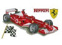 """Алмазная вышивка-мозаика """"Ferrari"""" (550х350 мм)"""