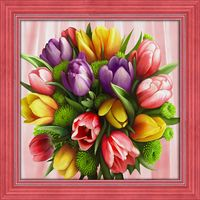 "Алмазная вышивка-мозаика ""Букет тюльпанов"" (400х400 мм)"