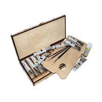 Набор для рисования в деревянной упаковке (10 цветов)