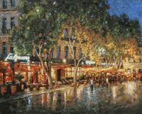 """Картина по номерам """"Ночные улицы Рима"""" (400х500 мм)"""
