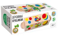 """Развивающая игрушка """"Деревянные кубики. Цвет"""""""